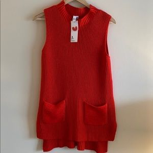 NWT! Jules & Leopold Red Sweater Turtleneck